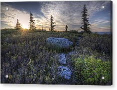 Sunrise At Bear Rocks Acrylic Print by Michael Donahue