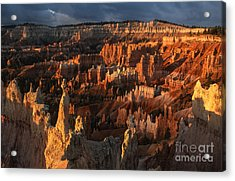Sunrise At Bryce Canyon Acrylic Print by Sandra Bronstein