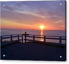 Sunrise At Cape Spear St Johns Newfoundland Acrylic Print by Lisa Phillips