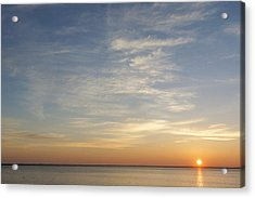 Acrylic Print featuring the photograph Sunrise At Cheyenne Bottoms by Rob Graham