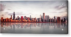 Sunrise At Chicago Acrylic Print