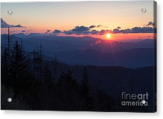 Sunrise At Clingmans Dome Acrylic Print