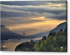 Sunrise At Columbia River Gorge Acrylic Print by David Gn