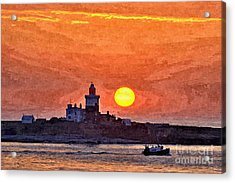Sunrise At Coquet Island Northumberland - Photo Art Acrylic Print