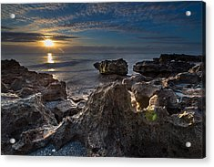 Sunrise At Coral Cove Park In Jupiter Acrylic Print