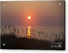 Sunrise At Corolla Outer Banks North Carolina Acrylic Print by Diane Diederich