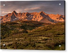 Sunrise At Dallas Divide Acrylic Print