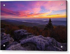 Sunrise At Dolly Sods In West Virginia Acrylic Print