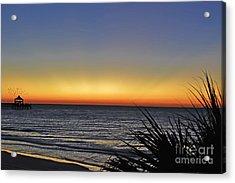 Sunrise At Folly Acrylic Print