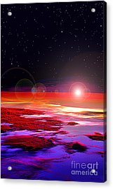 Acrylic Print featuring the photograph Sunrise At Fourty Thousand  by Adam Olsen