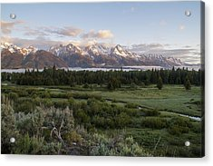 Sunrise At Grand Teton Acrylic Print by Brian Harig