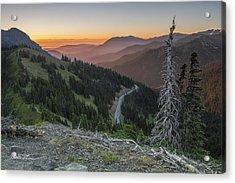 Sunrise At Hurricane Ridge - Sunrise Peak Acrylic Print