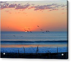 Sunrise At Indialantic Acrylic Print