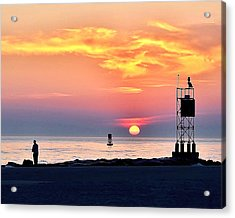 Sunrise At Indian River Inlet Acrylic Print