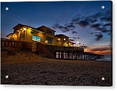 Sunrise At Johnnie Mercer's Pier Acrylic Print