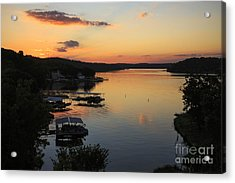 Sunrise At Lake Of The Ozarks Acrylic Print by Dennis Hedberg