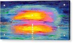 Sunrise At Lighthouse Point Acrylic Print by Jessilyn Park