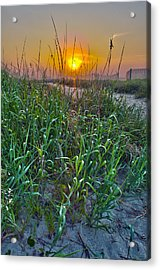 Acrylic Print featuring the photograph Sunrise At Myrtle Beach by Alex Grichenko