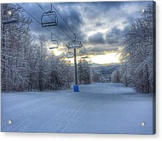 Sunrise At Okemo Mountain Acrylic Print