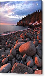 Sunrise At Otter Cliffs Acrylic Print by Patrick Downey