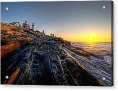 Sunrise At Pemaquid Point Acrylic Print