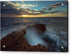 Sunrise At Sea Acrylic Print