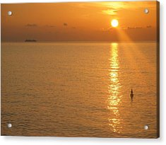 Sunrise At Sea Acrylic Print by Photographic Arts And Design Studio