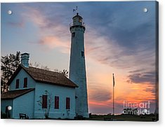 Acrylic Print featuring the photograph Sunrise At Sturgeon Point by Patrick Shupert