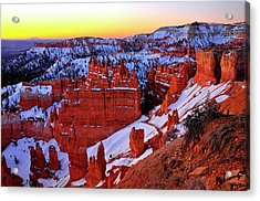 Acrylic Print featuring the photograph Sunrise At Sunset Point by Dan Myers