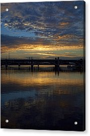 Sunrise At Tempe Town Lake Acrylic Print by Elaine Snyder