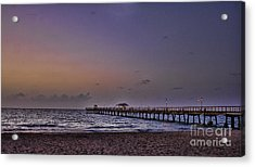 Acrylic Print featuring the photograph Sunrise At The Beach by Anne Rodkin