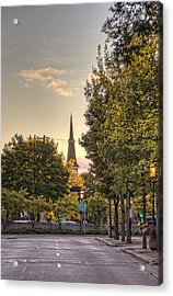 Acrylic Print featuring the photograph Sunrise At The End Of The Street by Daniel Sheldon