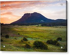 Sunrise At The Horseshoe Park Of The Colorado Rockies Acrylic Print by Ellie Teramoto