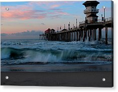 Sunrise At The Pier Acrylic Print