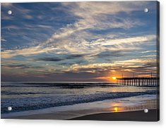 Sunrise At The Pier Acrylic Print by Gregg Southard