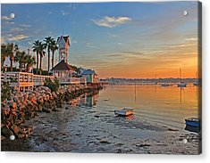 Sunrise At The Pier Acrylic Print by HH Photography of Florida