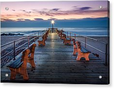 Sunrise At The Pier Acrylic Print by Steve Stanger