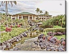 Sunrise At The Resort Acrylic Print by Scott Pellegrin