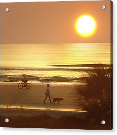 Sunrise At Topsail Island 2 Acrylic Print by Mike McGlothlen