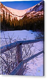 Sunrise At Tuckerman's With Fence 2 Acrylic Print
