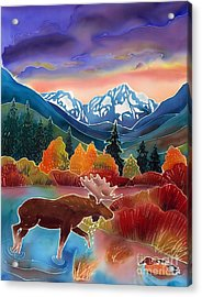 Sunrise At Two Medicine Lake Acrylic Print by Harriet Peck Taylor