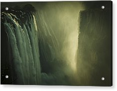 Sunrise At Victoria Falls Acrylic Print by Alison Buttigieg