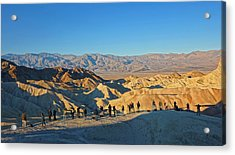 Acrylic Print featuring the photograph Sunrise At Zabriskie Point - Death Valley by Dana Sohr