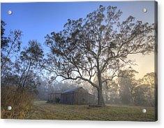 Sunrise Barn Acrylic Print by Steve Caldwell
