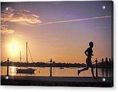 Sunrise Bayfront Runner Acrylic Print