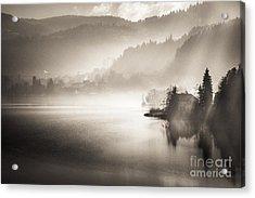 Acrylic Print featuring the photograph Sunrise By The Lake by Maciej Markiewicz