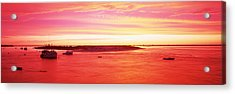 Sunrise Chatham Harbor Cape Cod Ma Usa Acrylic Print by Panoramic Images