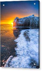 Sunrise Chicago Lake Michigan 1-30-14 03 Acrylic Print by Michael  Bennett