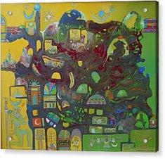 Sunrise City Acrylic Print by Hira Bosh
