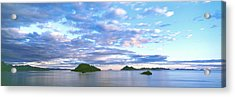 Sunrise Clouds Reflect In The Still Acrylic Print